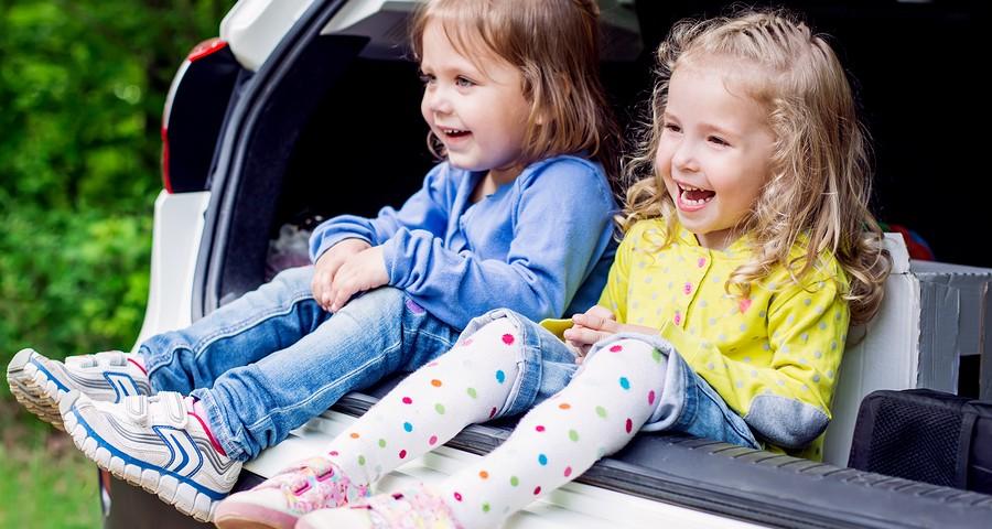 Happy Kids In The Car